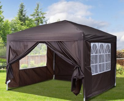 Outsunny Pop Up Gazebo Marquee, size (3m x3m)-Coffee 100110-067CE 5060348504108